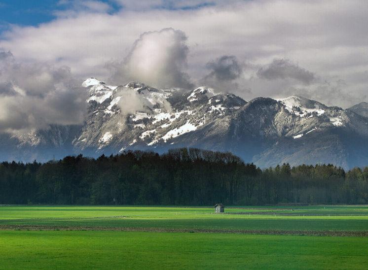 Mountains of Bregenz district in Austria