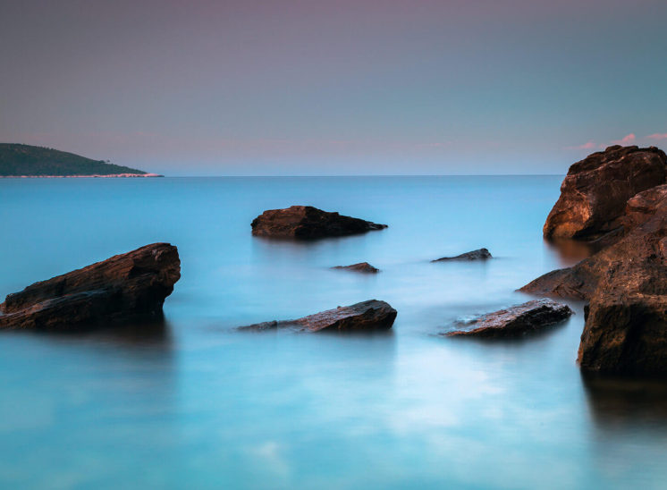 Long exposure landscape in the Island of Thassos