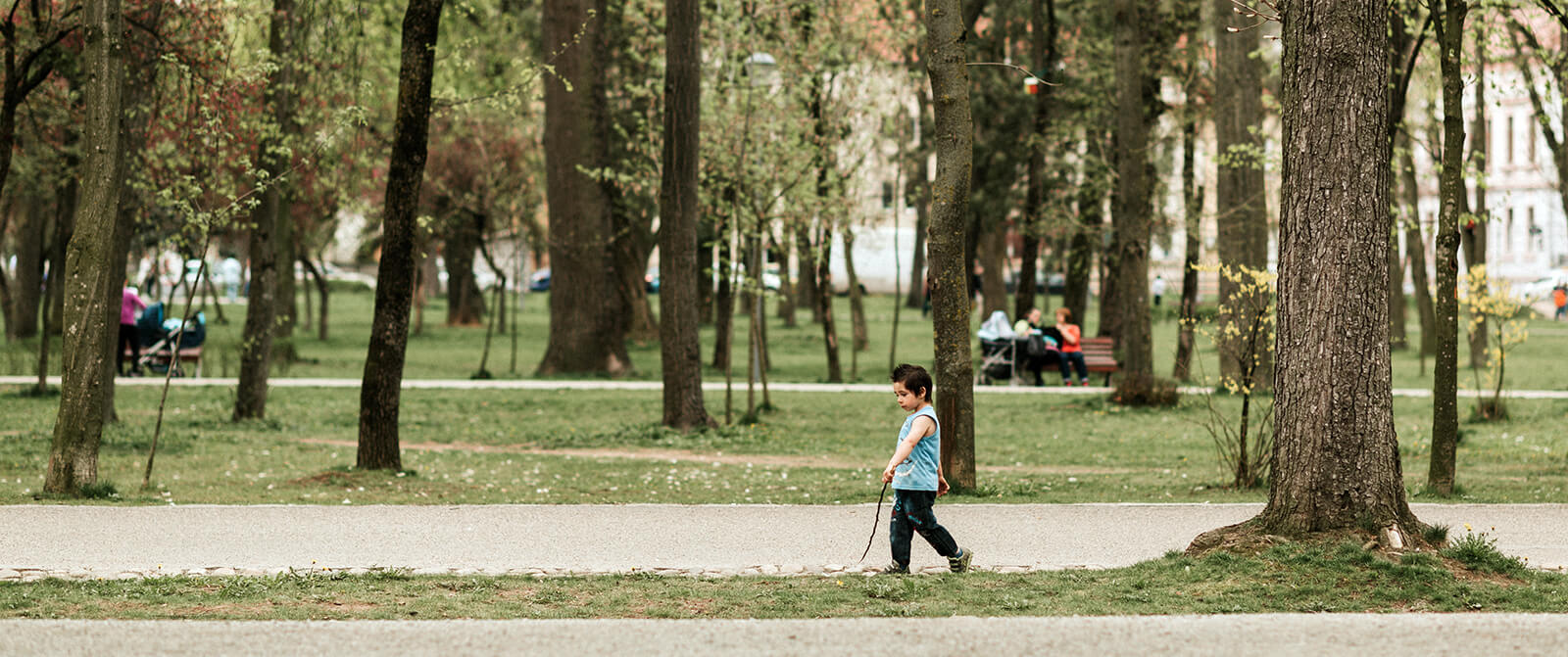a child playing in a park