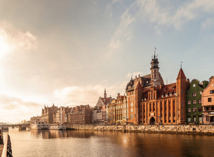 A representation of Gdansk city in Poland