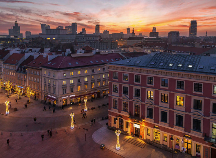Landscape of Warsaw city center