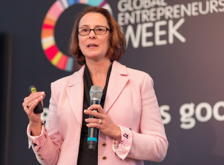 Speaker during Global Entrepreneurship Week event in Poland